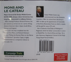 Campaign Trail-Mons and Le Cateau Audio book CD